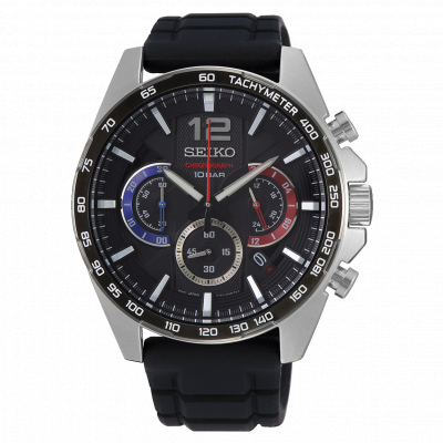 SEIKO SPORT CHRONOGRAPH QUARTZ 44MM MEN'S WATCH SSB347P1