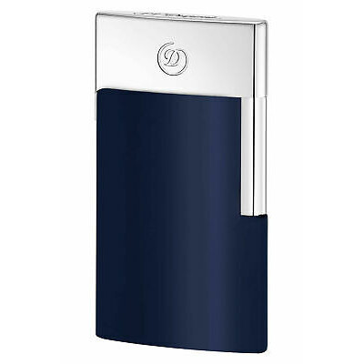 ЗАПАЛКА S.T.DUPONT E-SLIM BLUE CHROME 27008E
