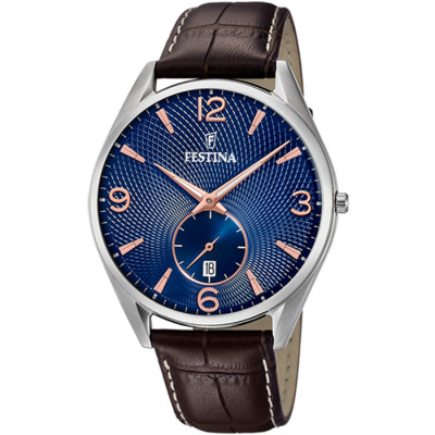 FESTINA RETRO 41 MM MEN`S WATCH F6857/8