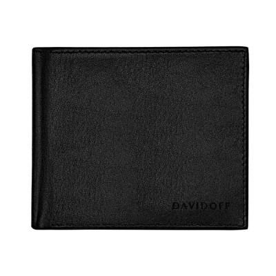 DAVIDOFF Портфейл с 5 отделения за карти и монетник Essentials, черен 22857