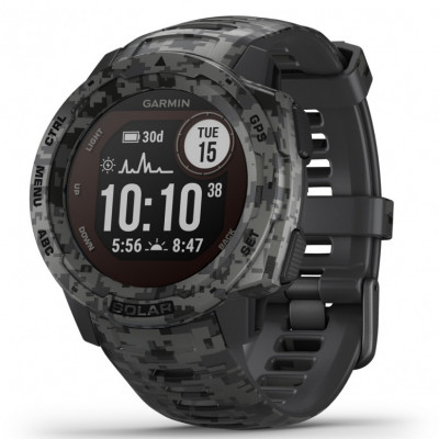 GARMIN INSTINCT SOLAR™ GRAPHITE CAMO 45MM 010-02293-05
