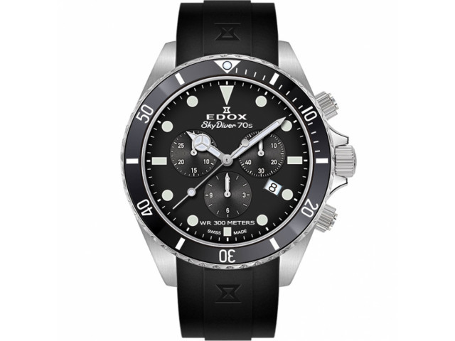 EDOX SKYDIVER 70'S CHRONOGRAPH 44MM MEN'S WATCH 10238 3NCA NI