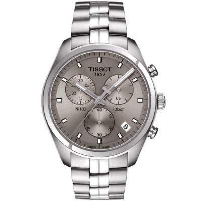 TISSOT PR 100 CHRONOGRAPH QUARTZ 41MM MENS WATCH T101.417.11.071.00