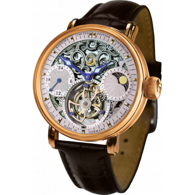 POLJOT INTERNATIONAL TOURBILLON SKELETON GMT HAND WINDING 43MM MEN'S WATCH LIMITED EDITION 100PIECES  3360.T40
