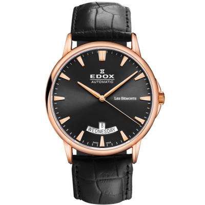 EDOX LES BEMONTS AUTOMATIC 42MM MEN'S WATCH 83015-37R-NIR