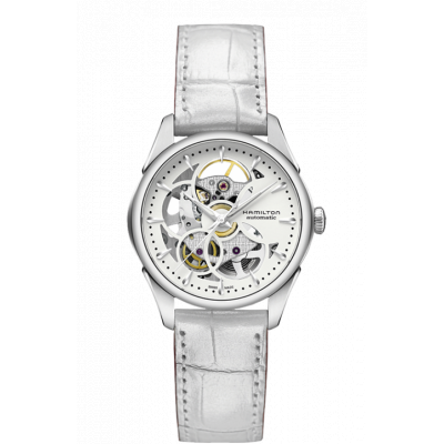 HAMILTON JAZZMASTER VIEWMATIC SKELETON  36MM LADY'S WATCH  H32405811