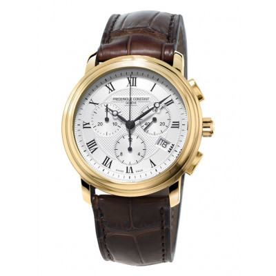 FREDERIQUE CONSTANT CLASSICS CHRONOGRAPH QUARTZ 40MM  MAN'S WATCH FC-292MC4P5