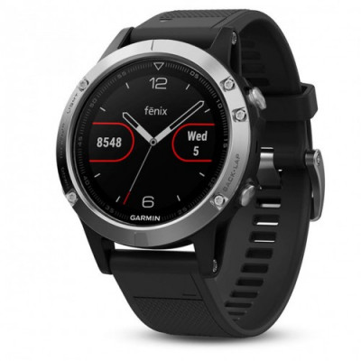 GARMIN FĒNIX® 5 SILVER BLACK 47MM 010-01688-03