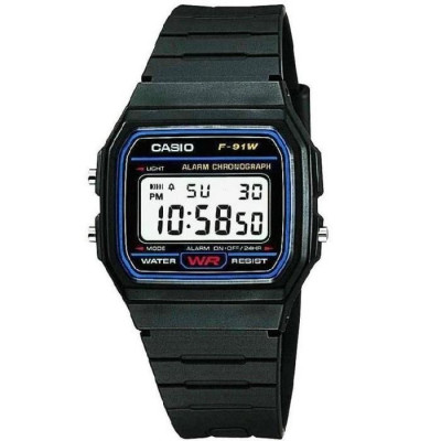 CASIO COLLECTION  F-91W-1YEF