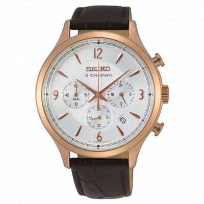 SEIKO CHRONOGRAPH QUARTZ 44MM MEN'S WATCH SSB342P1