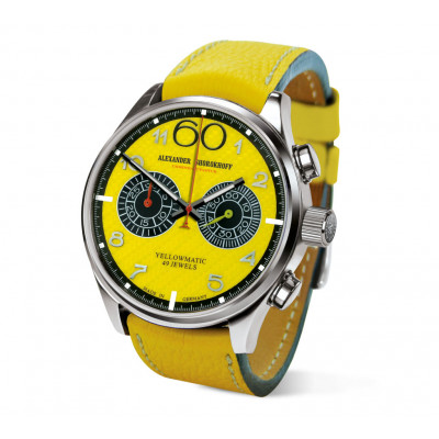 ALEXANDER SHOROKHOFF YELLOWMATIC AUTOMATIC 43.5MM MEN'S WATCH AS.N.PT05-58