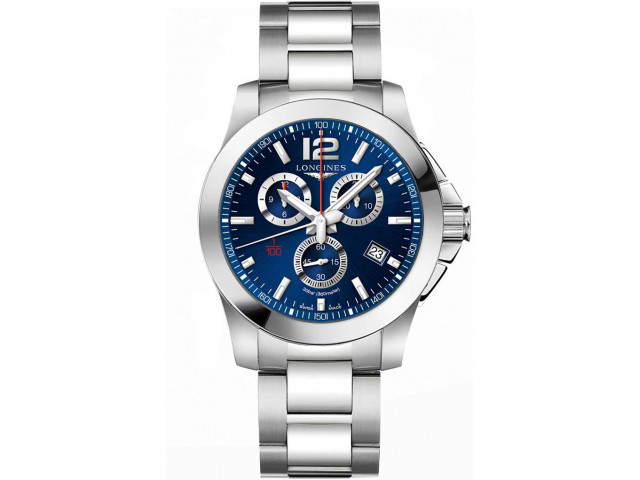 LONGINES CONQUEST  CHRONOGRAPH QUARTZ 44MM MEN'S WATCH L3.800.4.96.6