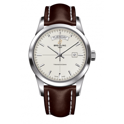 BREITLING TRANSOCEAN DAY&DATE AUTOMATIC 43MM MEN'S WATCH  A4531012/G751/437X