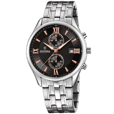FESTINA CHRONOGRAPH 42MM MEN`S WATCH F6854/7