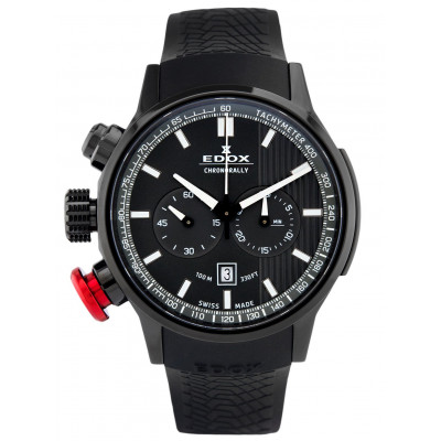 EDOX CHRONORALLY  CHRONOGRAPH QUARTZ 45MM MEN'S WATCH 10302-37N-GIN