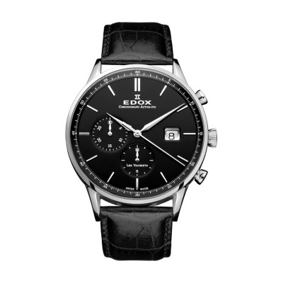 EDOX LES VAUBERTS AUTOMATIC 42MM MEN'S WATCH 91001 3 NIN