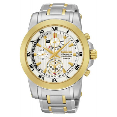 SEIKO PREMIER CHRONOGRAPH PERPETUAL CALENDAR QUARTZ 42ММ MEN'S WATCH SPC162P1