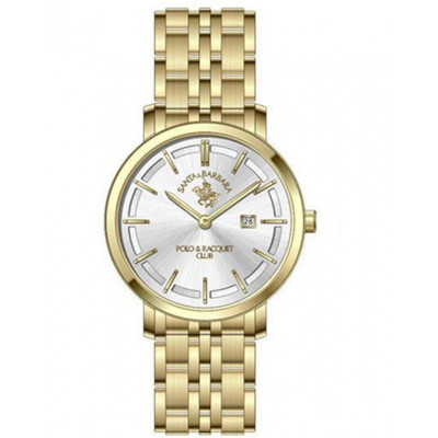 SANTA BARBARA POLO & RACQUET CLUB UNIQUE 32 MM LADY`S WATCH SB.10.1115.5